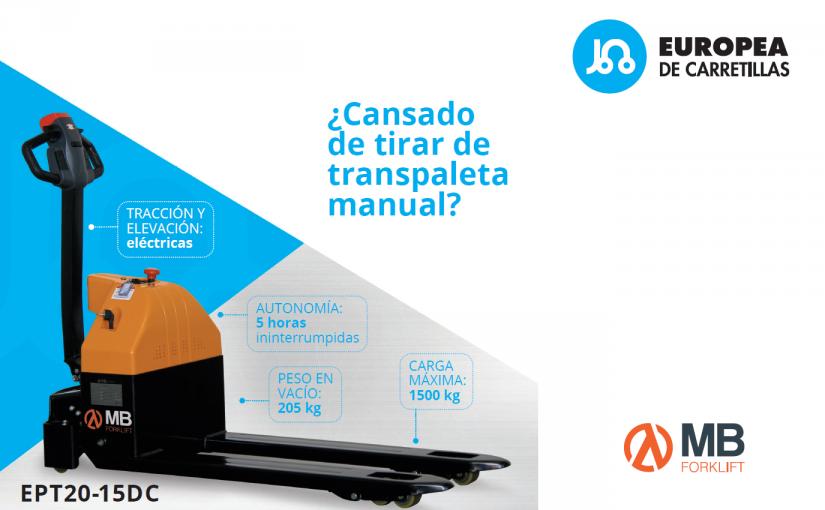 ¿Qué precio tiene tu salud? Apuesta por calidad de vida con esta transpaleta eléctrica por solo 2.200 €