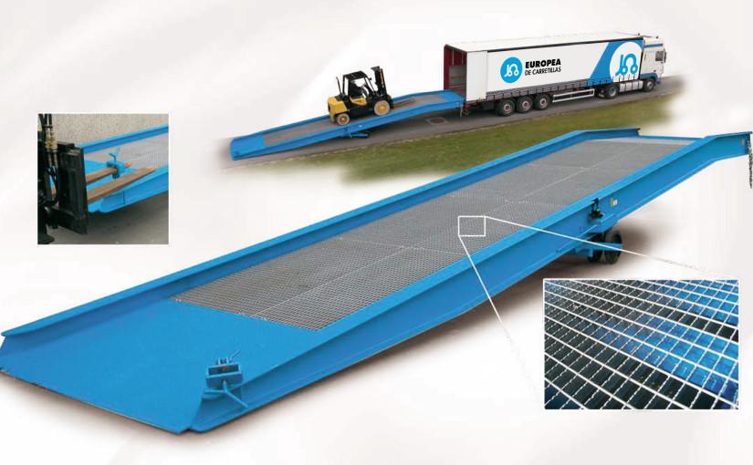 Nueva Rampa muelle LR BR 100 de Europea de Carretillas, la solución más rápida y flexible para carga y descarga de contenedores marítimos