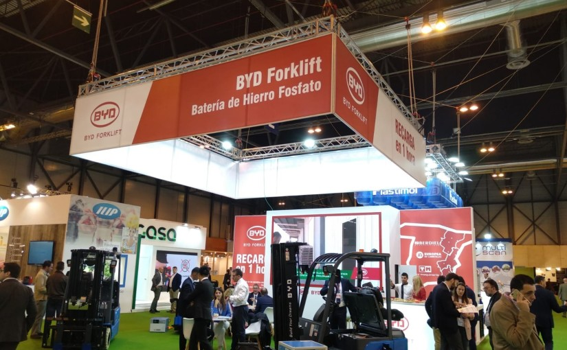 Éxito en el décimo aniversario de Fruit Attraction con las carretillas litio de BYD